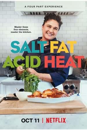 Poster: Salz. Fett. Säure. Hitze.