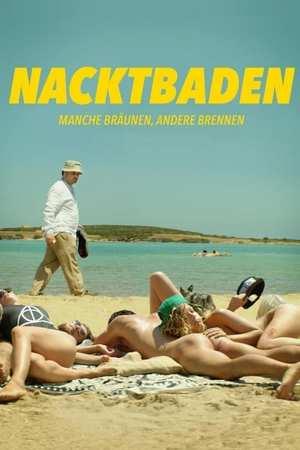 Poster: Nacktbaden - Manche bräunen, andere brennen