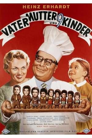 Poster: Vater, Mutter und neun Kinder