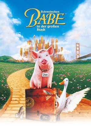 Poster: Schweinchen Babe in der großen Stadt