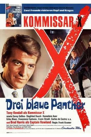 Poster: Kommissar X - Drei blaue Panther