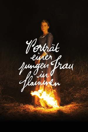 Poster: Porträt einer jungen Frau in Flammen