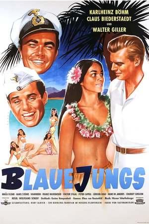 Poster: Blaue Jungs
